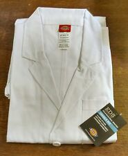 Unisex Fit White Dickies EDS Lab Coats, size XS