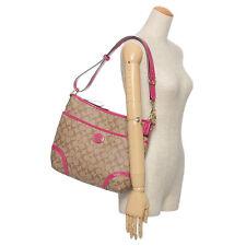 $298 NWT COACH Peyton Convertible Hobo / Crossbody Handbag 19823 Khaki/Magenta