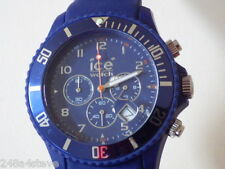 mens/unisex `ICE` chronograph date blue dial leather watch..BRAND NEW