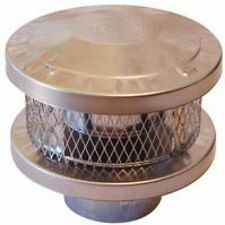 AmeriVent 8HS-RCS 3-Wall Round Vent Cap, 8 Inch, Stainless Steel