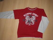 Langarm-Shirt von YIGGA * Gr. 134 * Olympic Spirit * Doppel-Optik