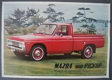 Original Vintage Mazda Motors Of Canada 1800 Pickup Truck Dealer Sell Sheet
