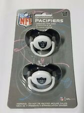 Oakland Raiders Baby Infant Pacifiers NEW - 2 Pack   GREAT SHOWER GIFT!