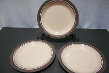 "LOT of Three HORNSEA England CORAL 7 7/8"" Salad Plates Oven to Tableware"
