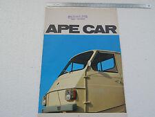 DEPLIANT ORIGINALE PIAGGIO APECAR APE CAR BROCHURE PROSPEKT RF.2