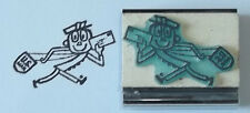 Mailman/Postal Carrier Running rubber stamp by Amazing Arts cute vintage fun!