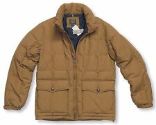 *NEW* J.Crew Men's Medium Dacota Down Jacket w/ Storable Hood - Beige *NWT*