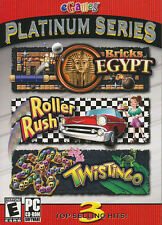 eGames PLATINUM SERIES - Red - Bricks Egypt + Roller Rush NEW