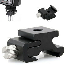 1PC Cold Shoe Hot Shoe To 1/4 Thread Screw Flash Bracket Mount Adapter Black