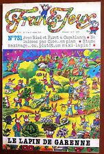 Francs Jeux n°731 du 15/10/1978; Le Lapin de Garenne