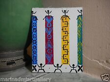 Ethnic party_Painting oil Canvas Abstract art hend FOLK Brut NAIVE MDmi origial