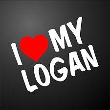 Me encanta mi Logan Dacia Diesel Pegatina Gráfico de parachoques de Ventana de Coche Ruedas de Aleación
