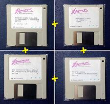 EMU EMAX 1 - Lot / Pack - 4 Original Soundbank Floppy Disks - Collector