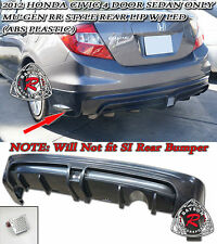 Mu-gen RR Style Rear Lip + LED Brake Lights Fits 2012 Civic 4dr