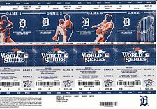 2013 DETROIT TIGERS PHANTOM WORLD SERIES SEASON TICKET SHEET SET CABRERA