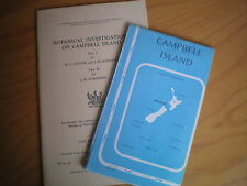 BOTANICAL INVESTIGATIONS ON CAMPBELL ISLAND PARTS 1 & 2 + MAP OF THE ISLAND 1951