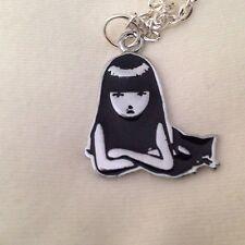 """Emily The Strange & Cat Enamel 18"""" Necklace"""