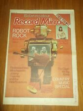 RECORD MIRROR APRIL 9 1977 FLEETWOOD MAC KINKS JOHNNY THUNDER THE CLASH MR BIG