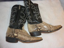 Rodeo  Men's Cowboy Boots Leather Snake Skin