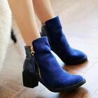 Womens Shoes Cowboy Boots Gothic Platforms Riding Ankle Boots Blue More Color WS