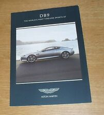 Aston Martin DB9 Price & Options Brochure 2015 - Coupe & Volante