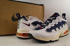 1996 Nike Air Burst 2 White Midnight Navy Light Zen Grey Varsity Red Size 11