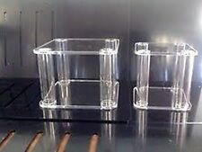 2 x ACRYLIC SEPARATORS / STANDS FOR 3-TIER WEDDING CAKE, FILLABLE