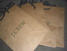 "5 @ J CREW SHOPPING BROWN PAPER STORAGE GIFT BAG 10""X7.75""X4.75"" New"