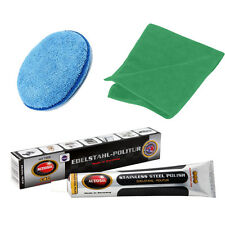 Solvol Autosol STAINLESS STEEL Cleaner Polish 75ml + Applicator Pad & Cloth Set