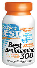 Best Benfotiamine - 300mg - 60 Veggie Caps - Doctor's Best