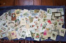 LOT OF 98 VINTAGE HOLIDAY POSTCARDS-EASTER, THANKSGIVING, CHRISTMAS