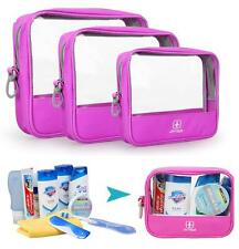 JT Travel Bath Toiletry Bag Organizer Storage Cosmetic Makeup Pouch - 3 PCS SET