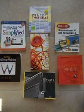 Collection Joblot 7 Books WEB Design Computing Dreamweaver Fireworks Flash 4 & 5