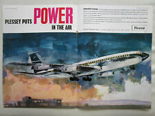 3/62 PUB PLESSEY AIRCRAFT EQUIPMENT BOEING 707 AIRLINER BOAC AIRLINE ORIGINAL AD