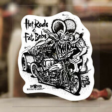 Hot Rods & Fat Bobs Rat Fink genuine sticker decal Ed Roth hot rod MOON 4.5""