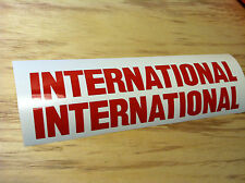 "TWO -  15"" x 2"" INTERNATIONAL HARVESTER DECAL STICKER DIESEL TRUCK ANY COLOR"