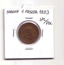 Spagna  Espana   1 peseta  1953        SPL/FDC      (m1006)