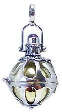 ANGEL CALLER / BOLA CHARM Pendant AMETHYST and 925 Sterling SILVER 23mm Chiming