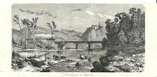 Stampa antica DEGO veduta panoramica con treno Savona 1875 Old antique print