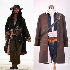 Pirates of the Caribbean Cosplay Jack Sparrow Costume Vestito Set*Su Misura*