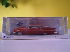 1:43 Spark, 1959 Chevrolet Impala Four Windows Sedan, Red, S2903
