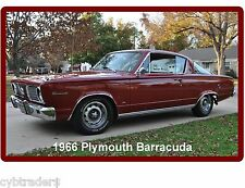 1966 Plymouth Barracuda Auto Refrigerator / Tool Box Magnet Man Cave