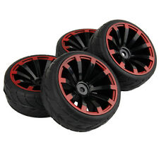 4pcs RC Tyres & Rims 1/10 On Road Car for HSP HPI REDCAT HIMOTO