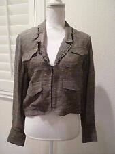 Rodarte Opening Ceremony Black/White/Beige/Grey Woven Jacket Size S