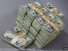 PROP MONEY USED LOOK NEWSTYLE $500,000 Blank Fillers for Movie, TV, Videos