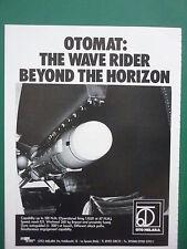 5/1982 PUB OTO MELARA LA SPEZIA MISSILE OTOMAT ANTINAVIRE ANTISHIP ORIGINAL AD