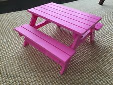 "18"" doll Pink Picnic Table New toy fits American Girl Our Generation"