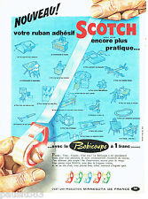 PUBLICITE ADVERTISING 056  1959  le ruban adhésif Scotch Bobicoupe Minnesota