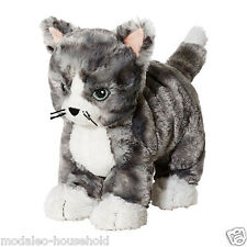 IKEA LILLEPLUTT Grey & White Cat Cuddly Toy Kids Suitable from 0 Years 25cm-B111