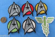 PATCH LOT of 6 vintage Star Trek MOTION PICTURE insignia medical caduceus